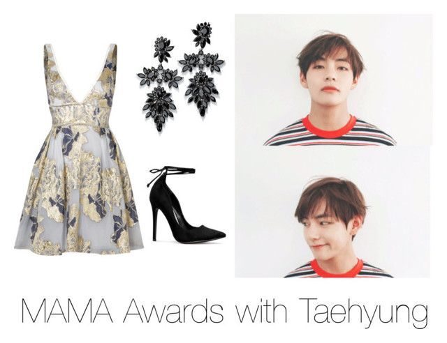 """""""MAMA awards with Taehyung"""" by bts-outfit-imagines on Polyvore featuring Notte by Marchesa and Fallon"""