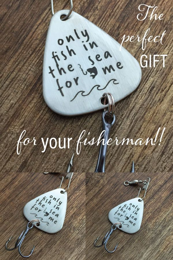 30 gift ideas 1 pinterest only fish in the sea for me fishing lure fishing gift for him mens gift husband negle Images