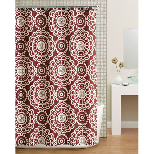 red and tan shower curtain. I also like this shower curtain with the tan walls and pretty bath mat to  match Best 25 Red curtains ideas on Pinterest black