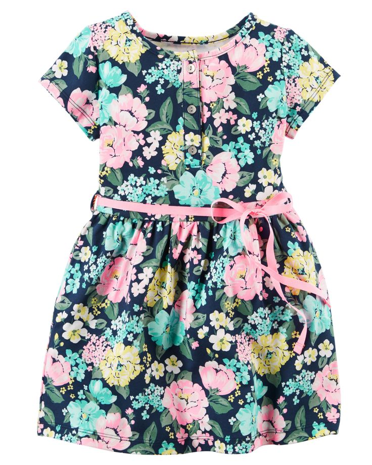 Toddler Girl Floral Jersey Dress | Carters.com