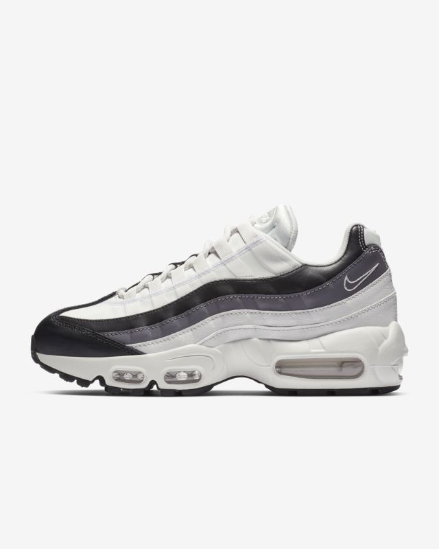 "Men's and Women's Nike Air Max 95 ""Pull Tab"" BlackRice White AJ1844 002"