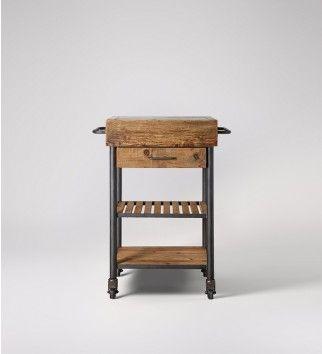 Beeton, Butcher's Trolley, Reclaimed Pine & Steel