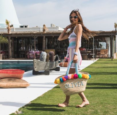 The Queen of customisation! This large basket by BOMBOM.MOROCCO can be as personalised as you like from pompoms to handles and even font. The original BOMBOM bag is ideal for...