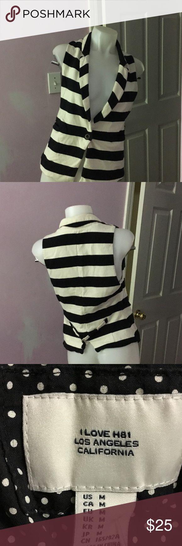 Stripe vest Size:M Jackets & Coats Vests