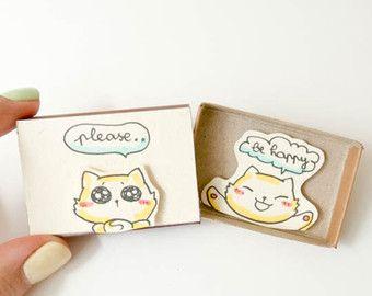 """Cute Fun Encouragement Card Matchbox/ Gift box / Message box """"Keep calm and follow your dreams""""/ OT0"""