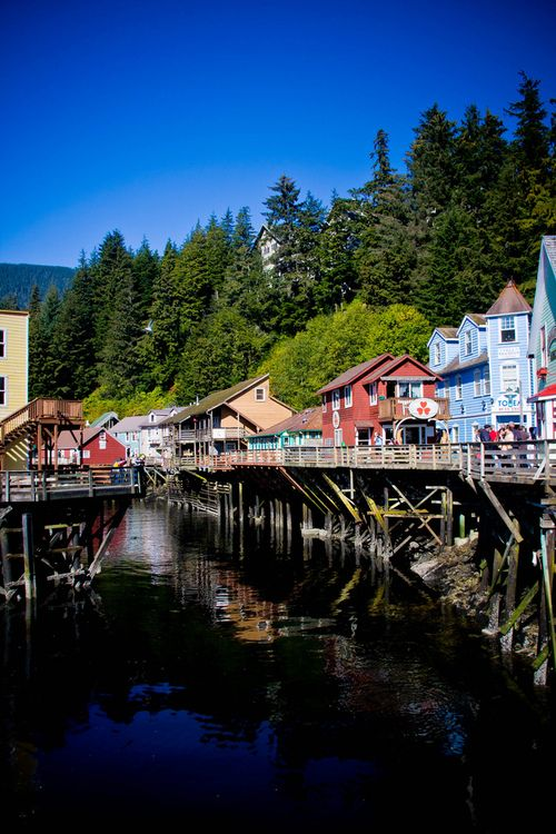 Creek Street, Ketchikan. This was such a quaint town.  Their museum was awesome.