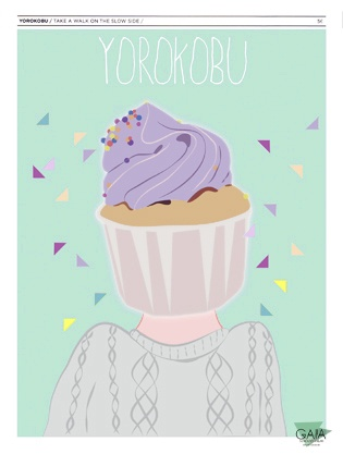 """I create a cover for a young and interesting Spanish magazine: YOROKOBU.  The Japanese word """" YOROKOBU """" means """"be happy"""" and this was the only rule  to make the cover of the magazine."""