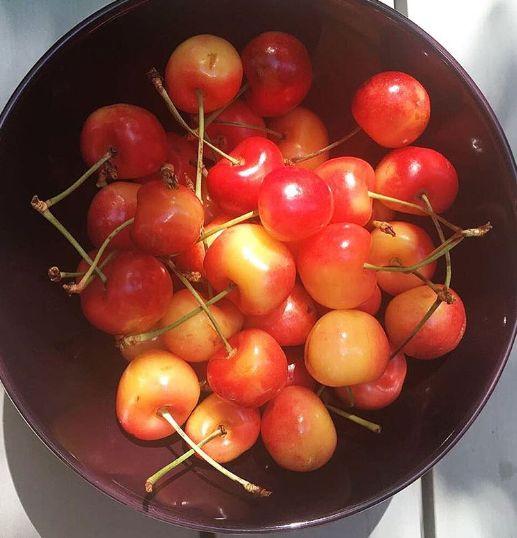 Get yourself some seasonal fruit...how about some cherries? they are so tasty and low in calories. Perfect snack for your morning, they are nutritious and great for your skin. -------- Come cerezas! Son deliciosas y bajas en calorías. Perfectas para tu snack de media mañana, y están llenas de propiedades positivas para tu organismo: Nutren y cuidan tu piel, te ayudan a dormir mejor y a recuperar los músculos después de una sesión de entretamiento!