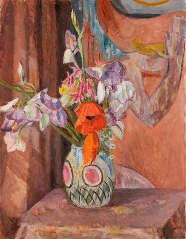 Flowers by Vanessa Bell who did so much beautiful work.  Remember the Bloomsbury collection for Laura Ashley?