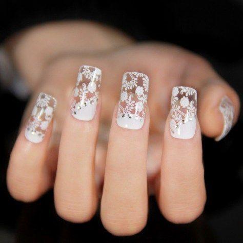 Best 25+ Lace nail art ideas on Pinterest | Lace nail ...