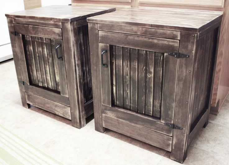 Diy Knockoff Restoration Hardware Nightstands, Home Decor, Painted Furniture,  Rustic Furniture, DIY Restoration Hardware Knockoff Nightstands