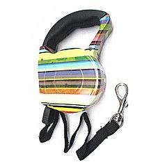 Udtrækkelig Farverig Zebra Leash for kæledyr Hunde (assorter... – DKK kr. 139