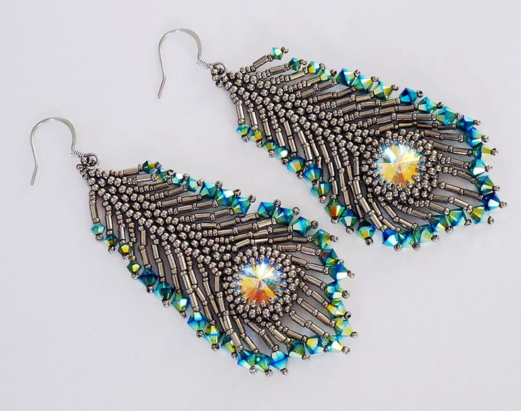 Peacock Feather Earrings - Bead&Button Show
