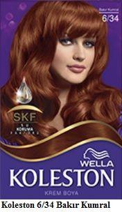 Koleston 2017 Saç Renk Kartelası - Koleston Bakır kumral saç rengi