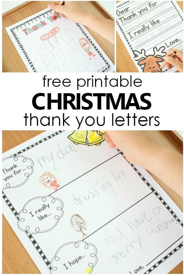 Free Printable Christmas Thank You Letter Templates For Kids Easy To Write Christm Thank You Cards From Kids Writing Thank You Cards Free Christmas Printables