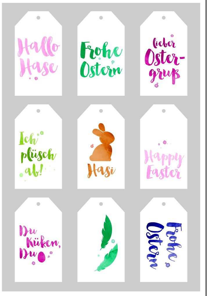 Free download Easter tags - Osteranhänger von EDEKA (Download Button oben rechts)