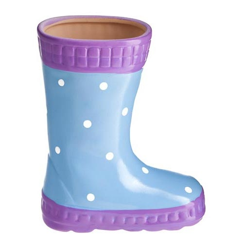 Welly Planter - great for making the garden more fun and interesting for my daughter