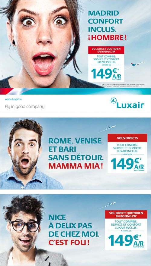 Campagne Luxair 2015 - VOUS