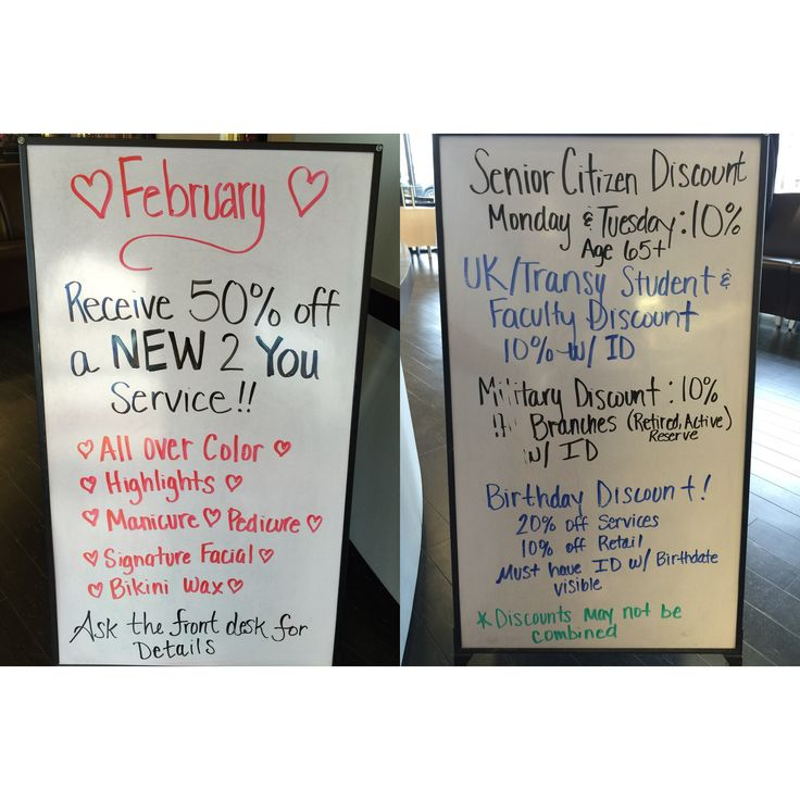 Our February specials! Come see me at the Summit Salon Academy in lex ky!