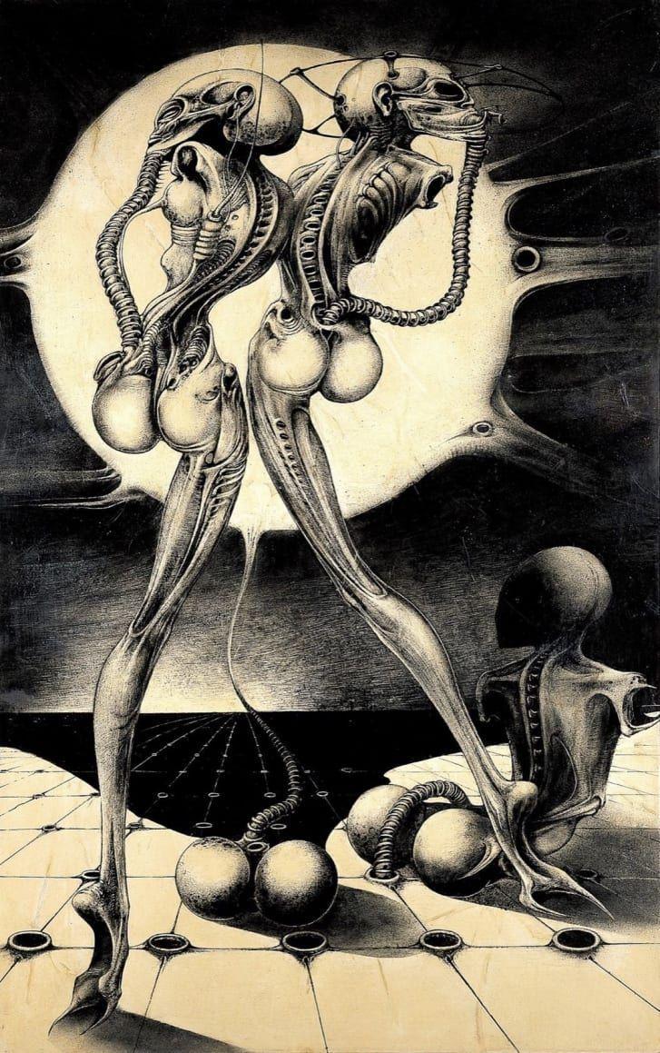 The nightmarish works of the artist behind
