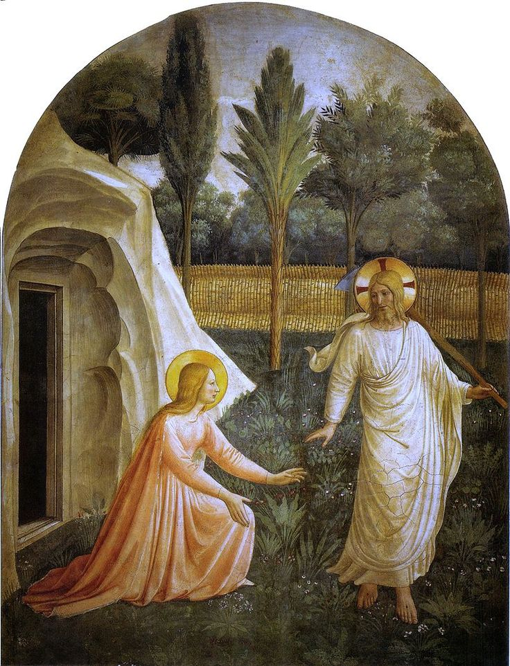 "Fra Angelico (1400-1455) - ""Noli me tangere ‬‬"" - Couvent San Marco, cellule I - Florence, Italie."