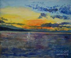 Raija Merila Painting - Sailboats Near Stockholm by Raija Merila