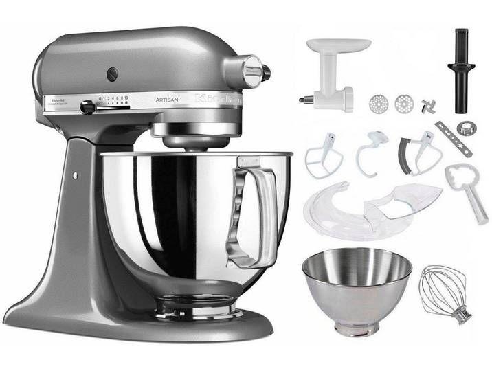 Kuchenmaschine 5ksm125ecu Artisan Silber Kitchenaid Kuchenhilfe Kitchenaid Artisan Mixer Kitchenaid Standmixer
