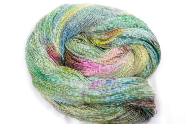 *夢紡ぎ* 手染め糸 c-1 シルク45 リネン55 246g かぎ針編み 棒針編み 手織り 絹麻_画像1