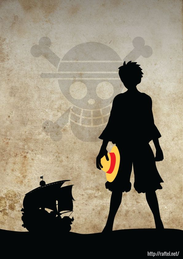 Here is a poster with Luffy and Thousand Sunny silhouettes that I put together.