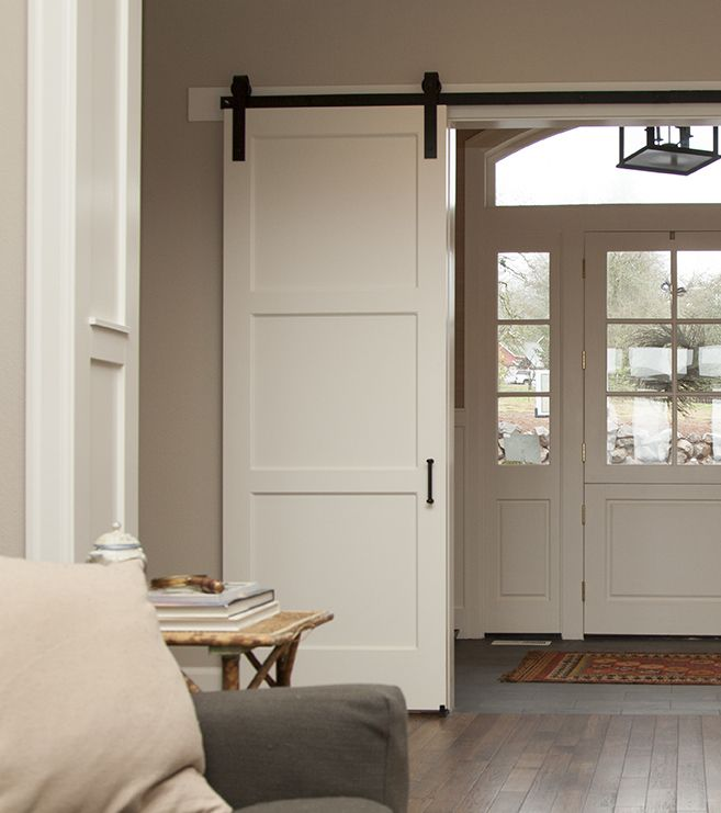 The 3-Panel Barn Door is a contemporary twist on the classic 5-Panel Barn Door, perfect for any home decor.