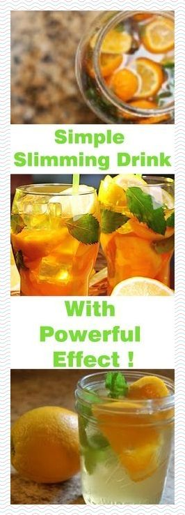 SIMPLE SLIMMING DRINK WITH POWERFUL EFFECT !