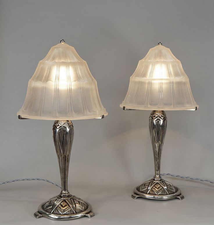 98 best french art deco table lamps images on pinterest art deco pair of french art deco table lamps paravas ebay mozeypictures Gallery