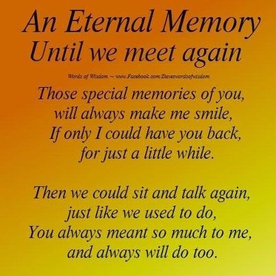 stone saying till we meet again