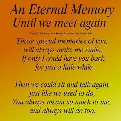 stone saying till we meet again