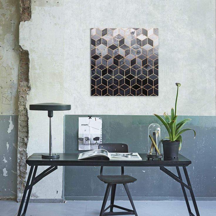 """""""Daydream Cubes"""". Tableau Design Numéroté by @efredriksso1458 - A partir de 35 € - www.chall.fr - #decorationinterieur #Artprint #inspiration #idéedeco #geometrique"""