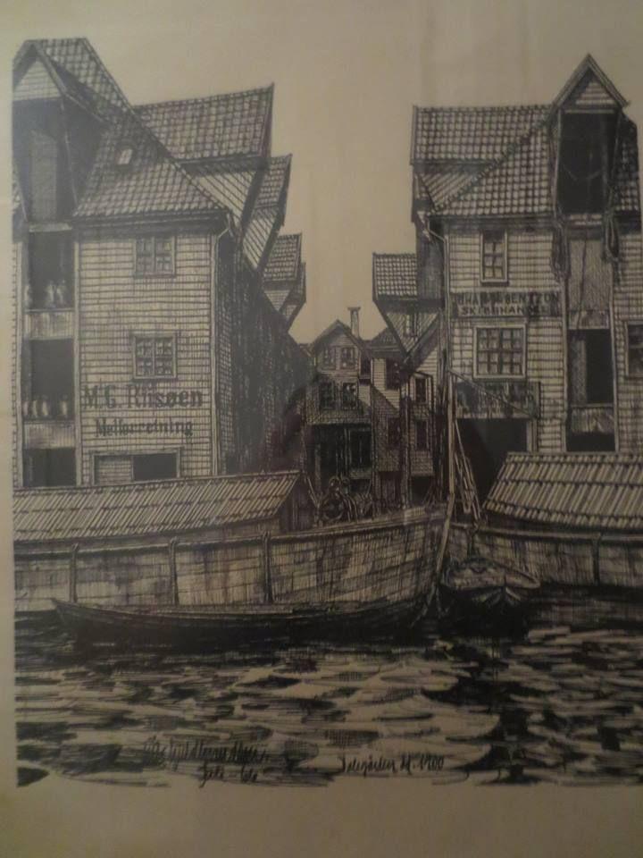 På denne tegningen av Erik Guldbrandsen fra 1966, står det Dalegården dd.1900.