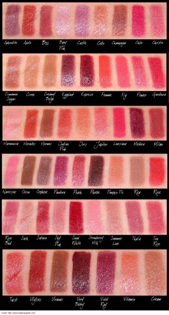 NYX round lipstick swatches...there's one named Christie :))