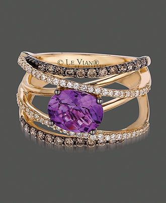 purple. This is the STYLE of ring I'd want. Multi banded to represent eternity.