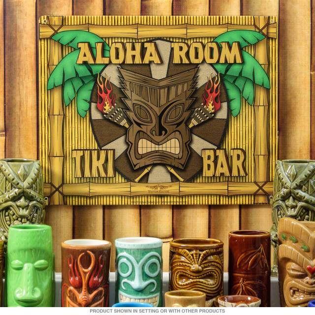 Aloha Room Tiki Bar Hawaiian Lounge Steel Sign D In 2019 Tiki