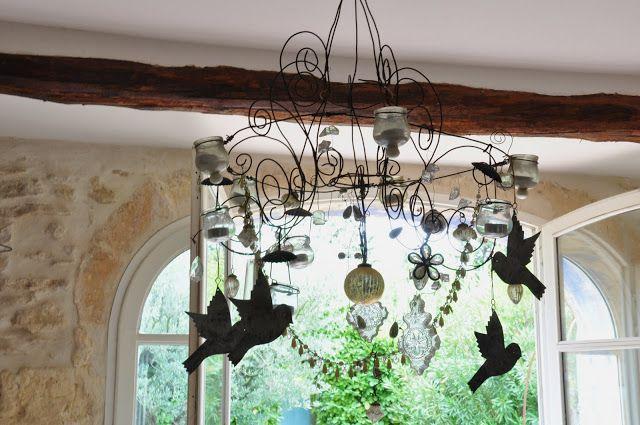 plus de 25 id es uniques dans la cat gorie lustre de fil sur pinterest fleurs de pompons. Black Bedroom Furniture Sets. Home Design Ideas