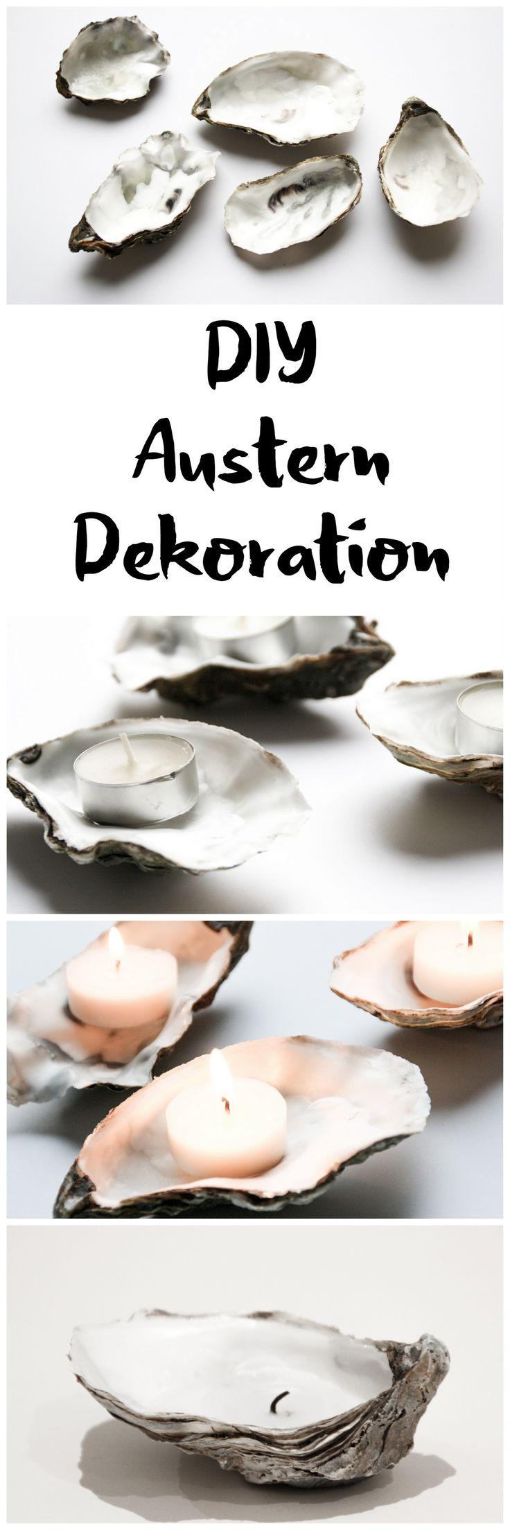 DIY edle Silvester Deko mit Austern Schalen vom Weihnachtsessen als Teelicht Kerze || DIY oyster upcycling tealight
