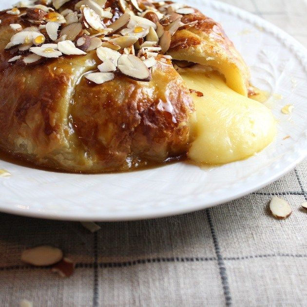 Baked Brie in Puff Pastry with Honey and Almonds   Recipe   Pastries ...