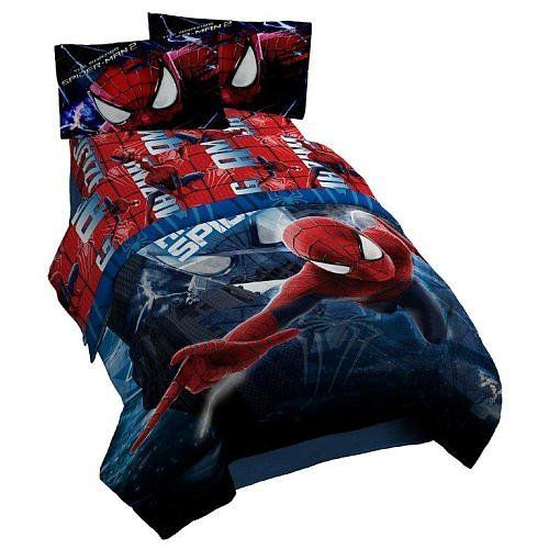This Spiderman full Sheet Set is a fun way to incorporate the classic superhero into any bedroom's decor. Featuring bright, vivid colors, this full Sheet Set, also available in full size, comes in the character's iconic red and blue color scheme. This set is machine washable for easy care.