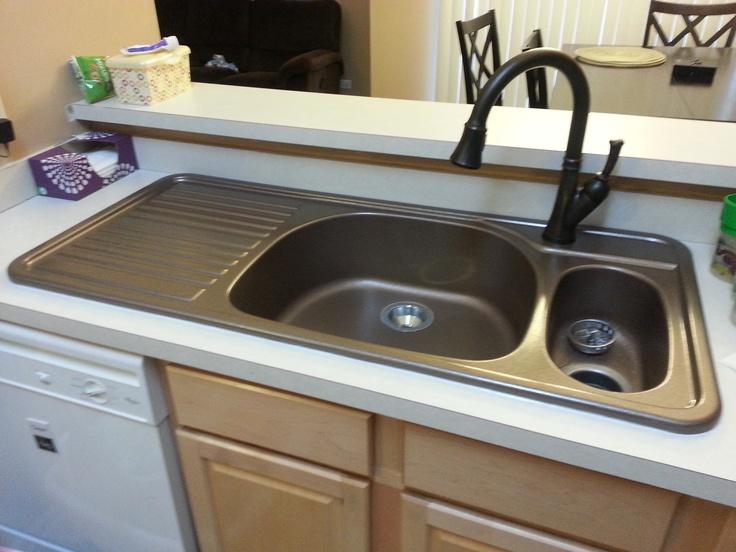Amazing Corstone Kitchen Sink With Attached Drainboard In Cinnabar