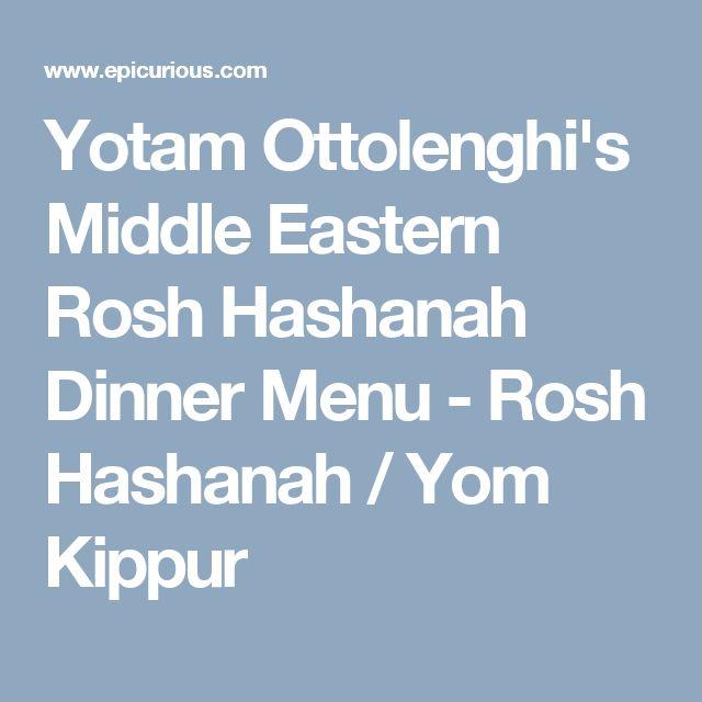 Yotam Ottolenghi's Middle Eastern Rosh Hashanah Dinner Menu - Rosh Hashanah / Yom Kippur
