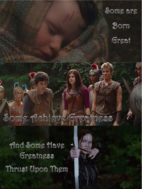 Hunger games, percy jackson, harry potter cross over