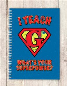 gifts: Personalised Super Power Notebook!