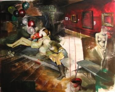 "Saatchi Art Artist Stefan Doru Moscu; Painting, ""Sitting down to lessons"" #art"