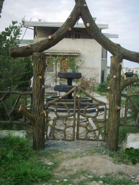 entrance arc for villa
