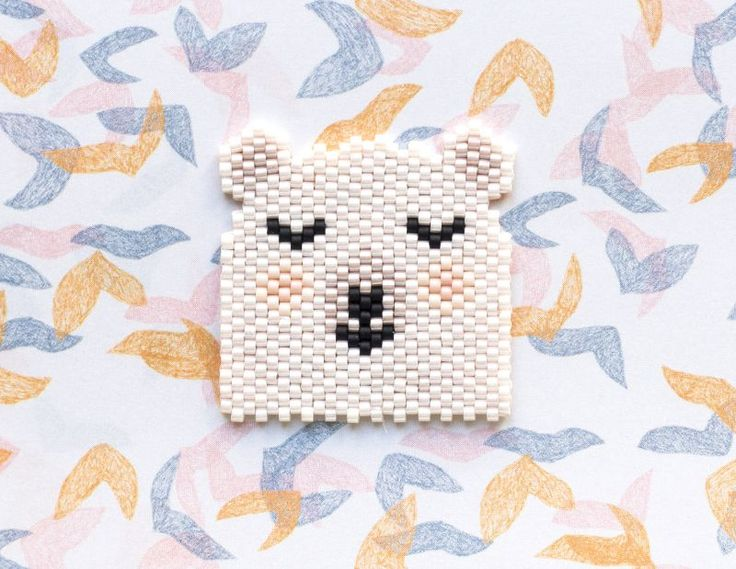broche nounours en perles miyuki -http://blog.la-petite-epicerie.fr/
